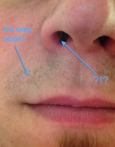 I am WAY TOO YOUNG for protruding nose hairs...